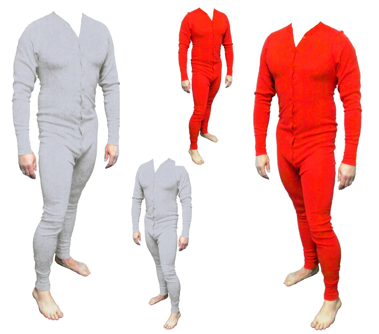 Long John Western Unterwäsche grau Einteiler Baumwolle Cowboy Unterhose