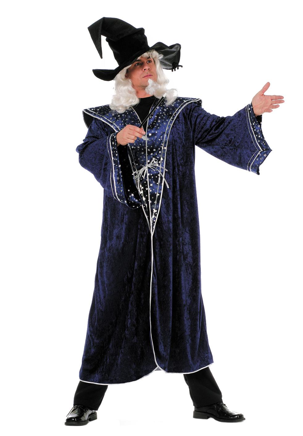 Indexbild 4 - Wilbers Kostüm Zauberer 50 - 60 blaue Sterne Zaubermeister