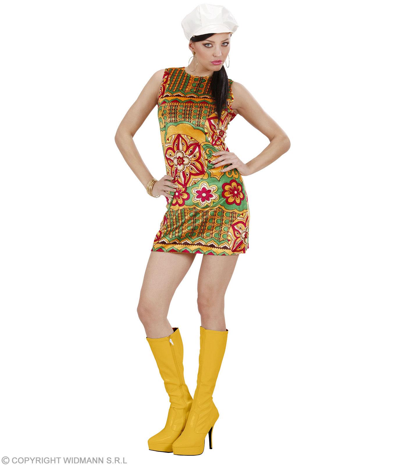 Details zu Kostüm 10er Jahre Kleid - 10 ties - Sommerkleid Samt Minikleid